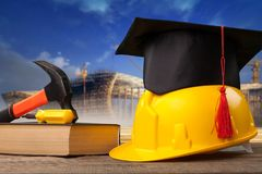 Construction. Education academic apprentice apprenticeship black business royalty free stock images