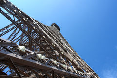 The construction of the Eiffel tower Stock Image