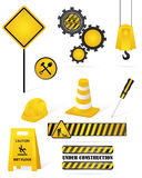 Construction elements. Set of construction and safety elements Stock Image