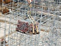 Construction elements handling Stock Image