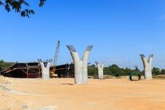 Construction Elevated expressway Stock Image