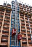 Construction elevators royalty free stock photo