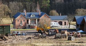 Construction of an elite country house Stock Images