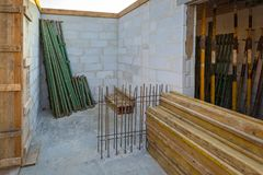 Construction en construction Photographie stock libre de droits