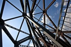 Construction en acier Photographie stock