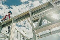 Construction en acier squelettique photographie stock