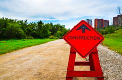 Construction en avant photographie stock libre de droits