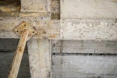 Construction en construction avec l'appui en acier de fer Photographie stock