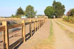 Construction en bois de frontière de sécurité Image libre de droits