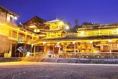 Construction en bois de minorité de Miao Photographie stock libre de droits