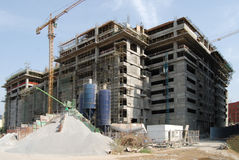 Construction en construction Images libres de droits
