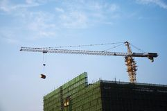 Construction en construction Photos stock