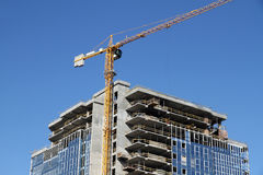 Construction en construction Image stock