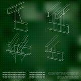 construction en métal 3D Couverture, fond pour des inscriptions Image libre de droits
