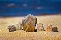 Construction en pierre de zen Photos libres de droits