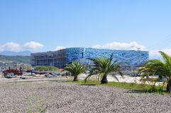 Construction en stationnement olympique de Sotchi Images libres de droits