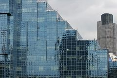 Construction en verre Images libres de droits