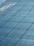 Construction en verre Photographie stock