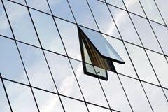 Construction en verre. Photo libre de droits