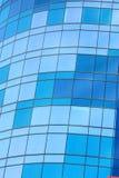 Construction en verre avec les hublots bleuâtres Photos libres de droits