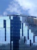 Construction en verre bleue photo libre de droits