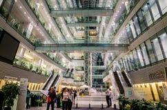 Construction en verre d'architecture moderne Image stock