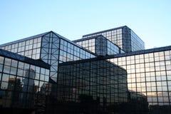Construction en verre de New York City Photo libre de droits