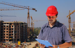 Construction engineer Royalty Free Stock Image