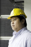 Construction engineer. Construction engineer with a background building Stock Photos