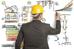 Construction engineer stock photo