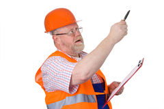 Construction engineer giving instructions Royalty Free Stock Images