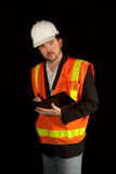 Construction Engineer in Hardhat Royalty Free Stock Photo