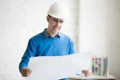Construction engineer in hardhat Stock Photos