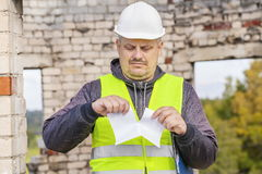 Construction engineer rend paper Stock Photos