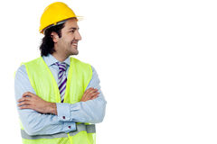 Construction engineer smiling confidently Royalty Free Stock Images