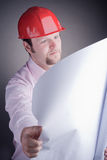 Construction Engineer Surveying The Open Project Royalty Free Stock Photo
