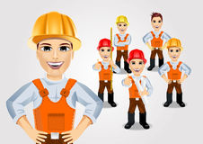 Construction engineer worker builder set Royalty Free Stock Photography
