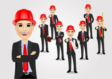 Construction engineer worker builder set Royalty Free Stock Image