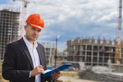 Construction engineer stock images