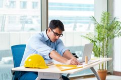 The construction engineer working on new project royalty free stock photos