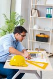 The construction engineer working on new project stock photos
