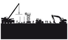 Construction and engineering illustration royalty free illustration