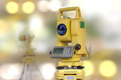 Construction and engineering tool, total station Stock Image