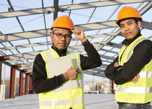 Construction engineers Royalty Free Stock Photo