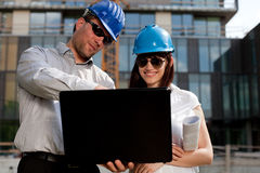 Construction engineers / specialists Royalty Free Stock Photography