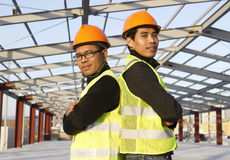 Construction engineers Stock Photo