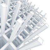 Construction entretoisée blanche moderne au-dessus de blanc Photo libre de droits