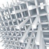 Construction entretoisée moderne sur le fond blanc Photos libres de droits
