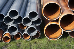 Construction equipment – pvc pipes Stock Images