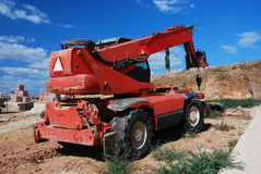 Construction equipment. Modern red machinery Royalty Free Stock Photos